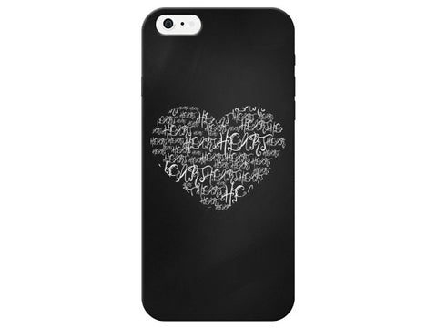 Chalkboard Worded Heart Phone Case