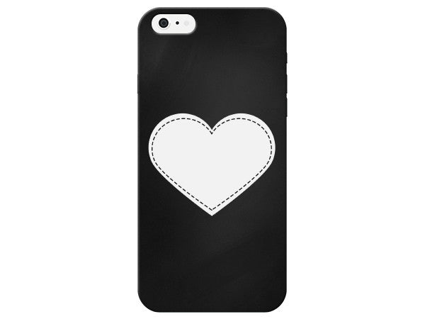 Stitched Heart Chalkboard Phone Case