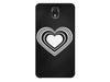 Heart in Hearts Black & White Phone Case