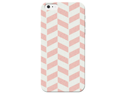 Peach Pastel Herringbone Phone Case