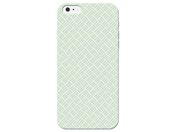 Blue Stitch Print Pastel Phone Case