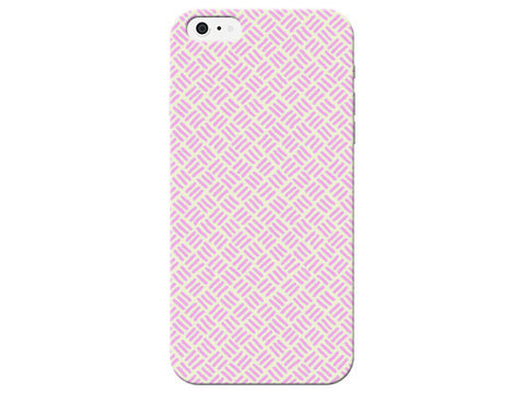 Pink Stitch Print Pastel Phone Case