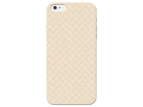 Coral Orange Stitch Print Pastel Phone Case