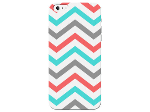 Blue, Grey, & Red Chevron Phone Case