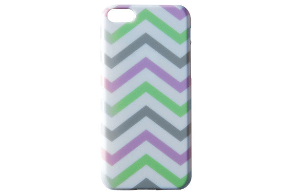 Purple Green & Grey Chevron Phone Case