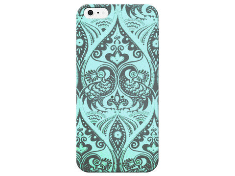 Quality Blue Peacock Print Phone Case