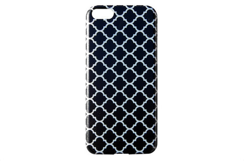 Black Moroccan Pattern Phone Case
