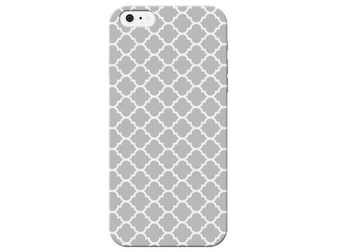 Light Gray Moroccan Pattern Phone Case