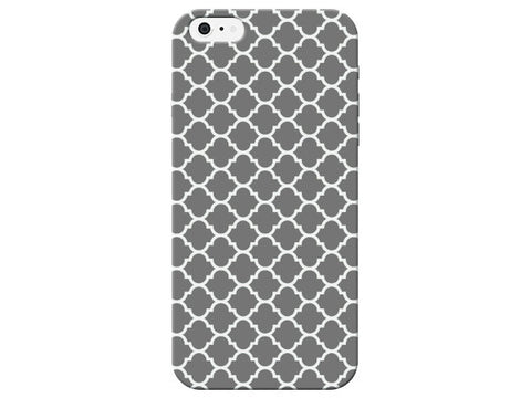 Dark Grey Damask Moroccan Phone Case