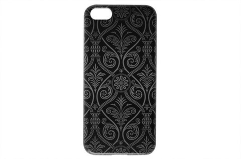 Black Damask Pattern Phone Case