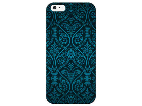 Blue Damask Design Phone Case