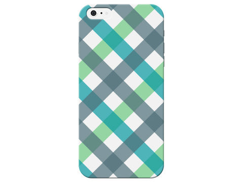 Plaid Blue & Green Patterned Phone Case