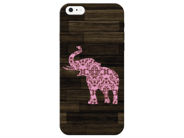 Light Pink Elephant Wood Grain Phone Case