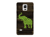 Dark Wood Lime Damask Elephant Phone Case