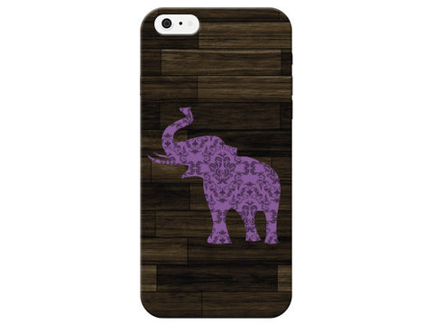 Purple Damask Elephant Phone Case