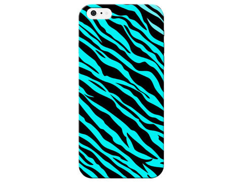 Blue Zebra Pattern Phone Case