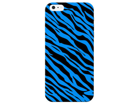 Bright Blue Zebra Stripes Phone Case