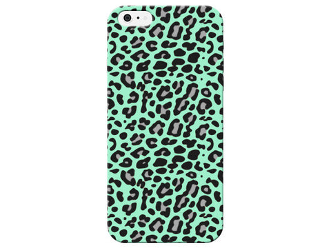 Chic Mint Animal Print Phone Case