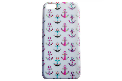Girly Nautical Anchor Print Phone Case