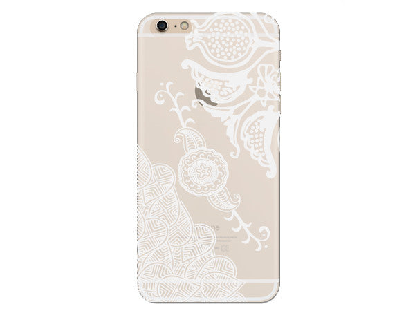 Vine Henna Inspired Clear Phone Case