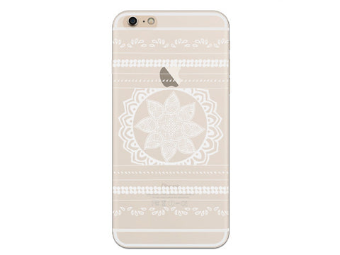 Mandala Inspired Striped Clear Phone Case