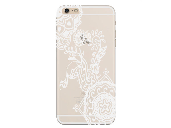 Henna Inspired Vine Clear Phone Case