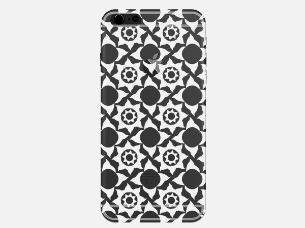 White Star Zen Pattern Clear Phone Case