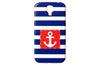 Striped Nautical Anchor Phone Case