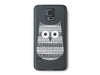 Abstract Aztec Owl Clear Phone Case