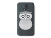 Checkered Owl Clear Phone Case