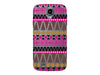 Clear Gold & Pink Aztec Phone Case