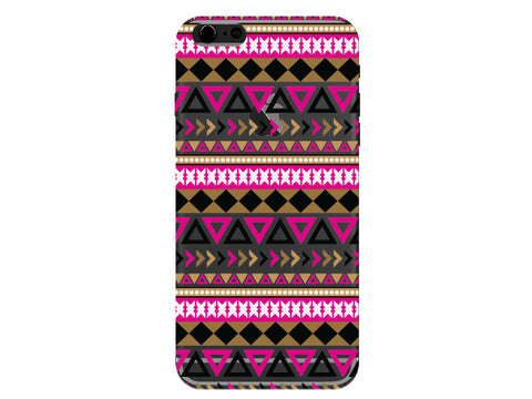 Clear Pink & Gold Aztec Phone Case