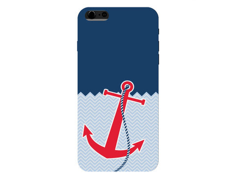 Red Anchor Nautical Chevron Phone Case