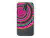 Pink Aztec Mandala Pattern on a Clear Phone Case