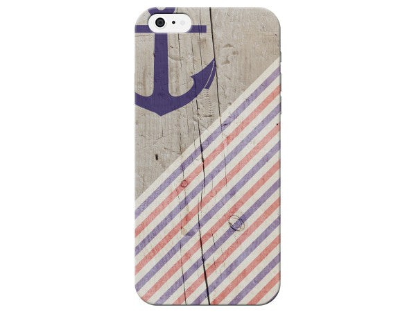 Nautical Wood Dock Anchor Phone Case