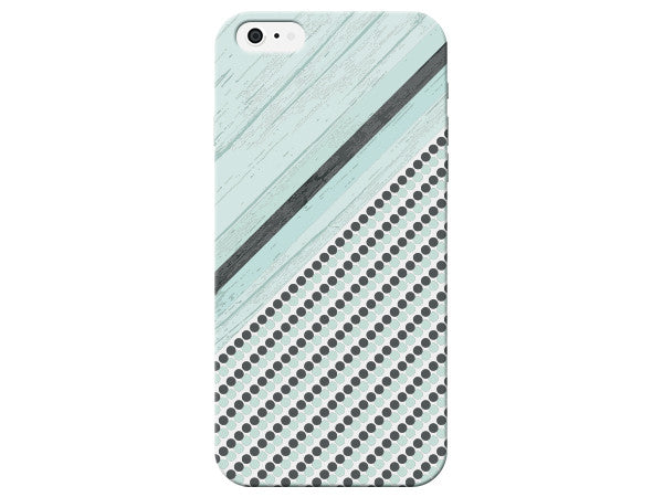 Sea Foam Green Striped Wood Grain Phone Cover