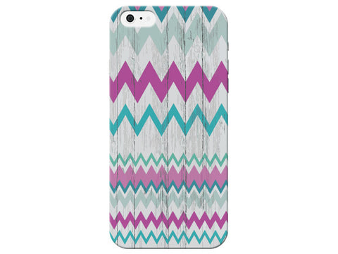 White Washed Wood Grain Chevron Phone Case