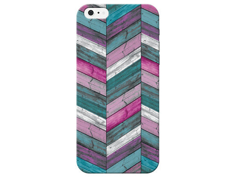 Bright Wood Grain Chevron Phone Cover