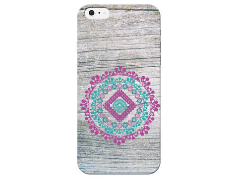 Wood Grain Mandala Phone Case