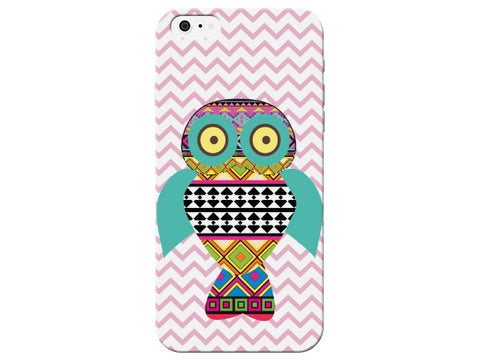 Chevron Geometric Owl Phone Case