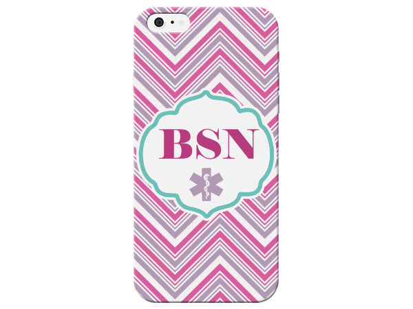 Chevron Bachelor of Science in Nursing Medical Phone Case