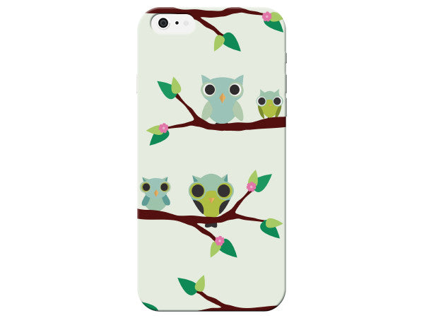 Cute Owls on a Branch Phone Case