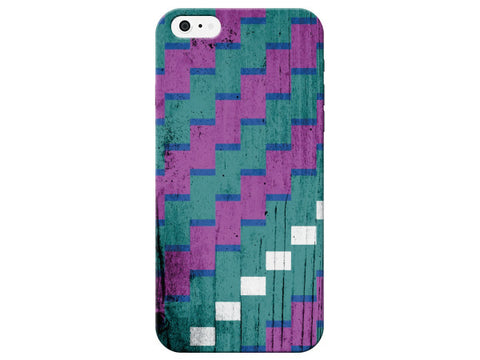 Geometric Turquoise Wood Grain Phone Case
