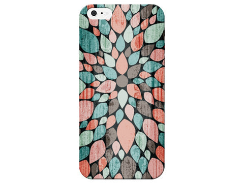Wood Grain Floral Pattern Phone Case