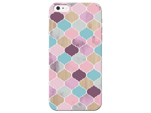 Pastel Moroccan Wood Grain Pattern