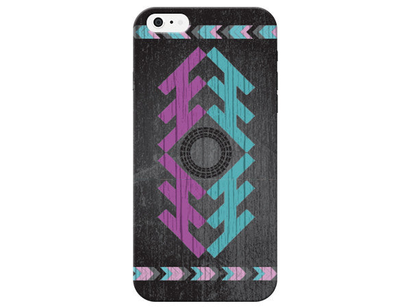 Black Geometric Wood Grain Phone Case