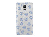 Nautical Anchor Collage Clear Phone Case