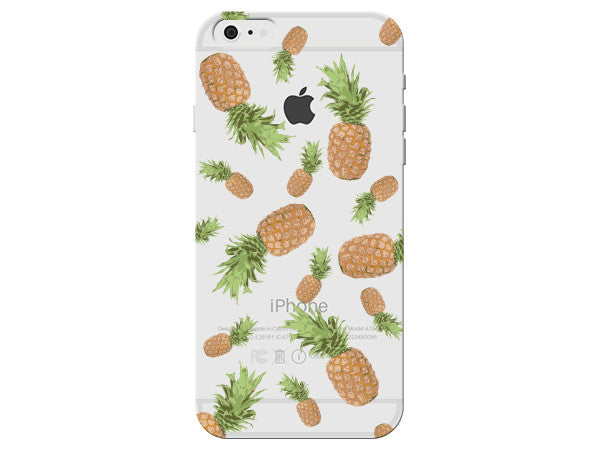 Clear Phone Case Covered in Pineapples