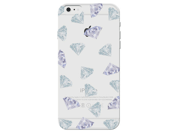 Clear Diamond Collage Phone Case