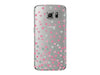 Gray and Pink Clear Triangle Phone Case